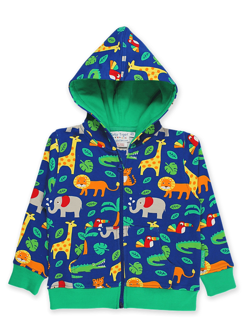 Toby Tiger Jungle Print Hoodie