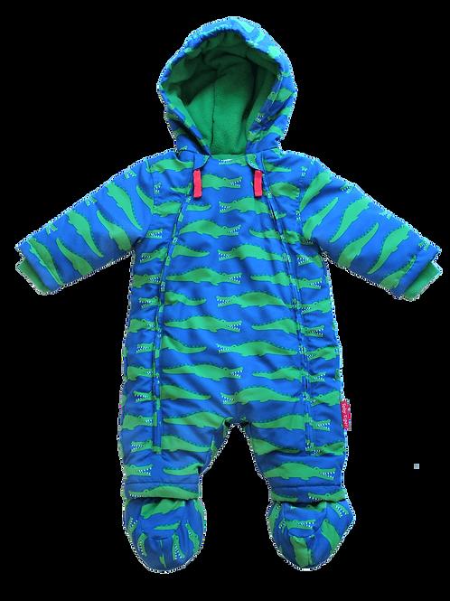 Toby Tiger Croc Print Snowsuit