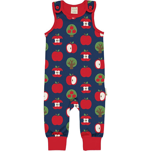 Maxomorra Playsuit/Dungarees Apple Print