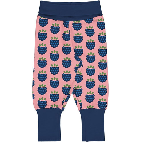 Maxomorra Yoga Pants Blackberry Print