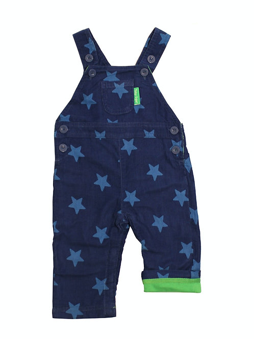 Toby Tiger Blue Star Cord Dungarees