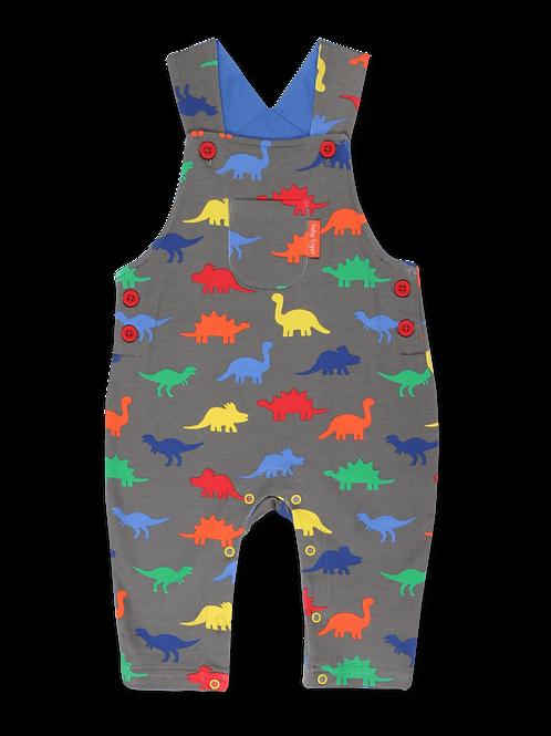 Toby Tiger Organic Dinosaur Print Dungarees