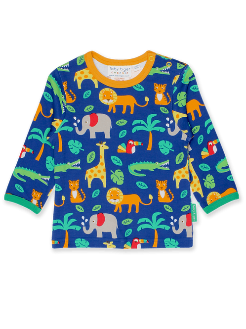 Toby Tiger Jungle Print LS T Shirt