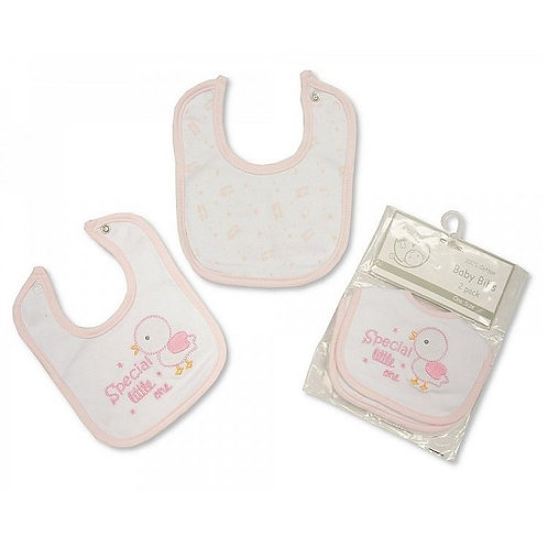 Premature Girls Bib 2 Pack