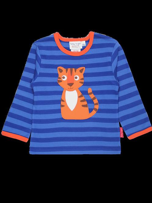 Toby Tiger Organic Happy Tiger Applique T-Shirt