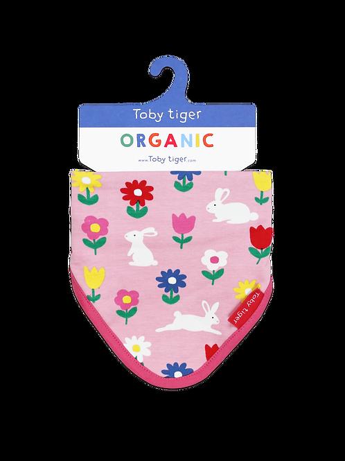 Toby Tiger Organic Bunny Print Dribble Bib