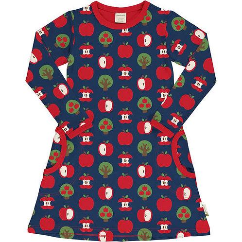 Maxomorra LS Dress Apple Print