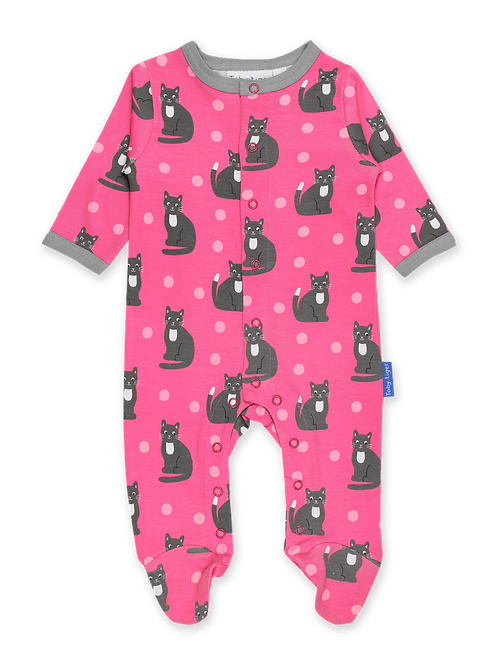 Toby Tiger Sleepsuit Kitten Print