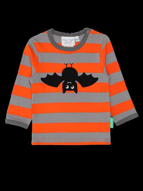 Toby Tiger Bat Applique LS T Shirt