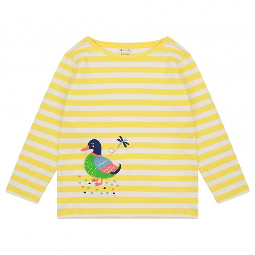 Piccalily Duck Stripe Print LS Top