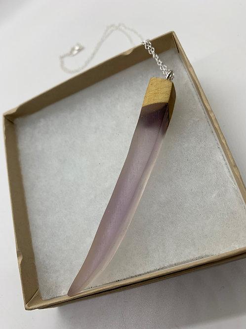 "Wood and Epoxy pendant Necklace18"""