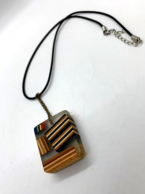 Skateboard Pendant Necklace  22""