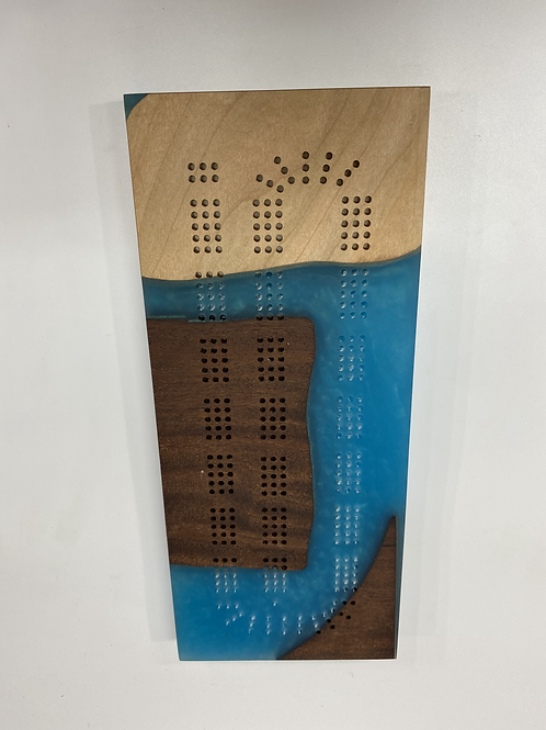 River Cribbage Board