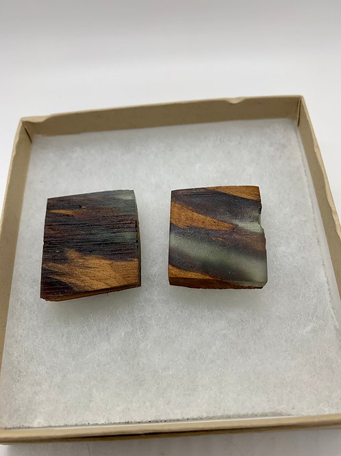 Wood and Epoxy Earrings