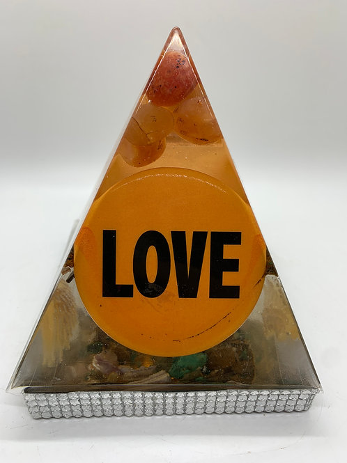 For the Love of Orange Orgone Pyramid
