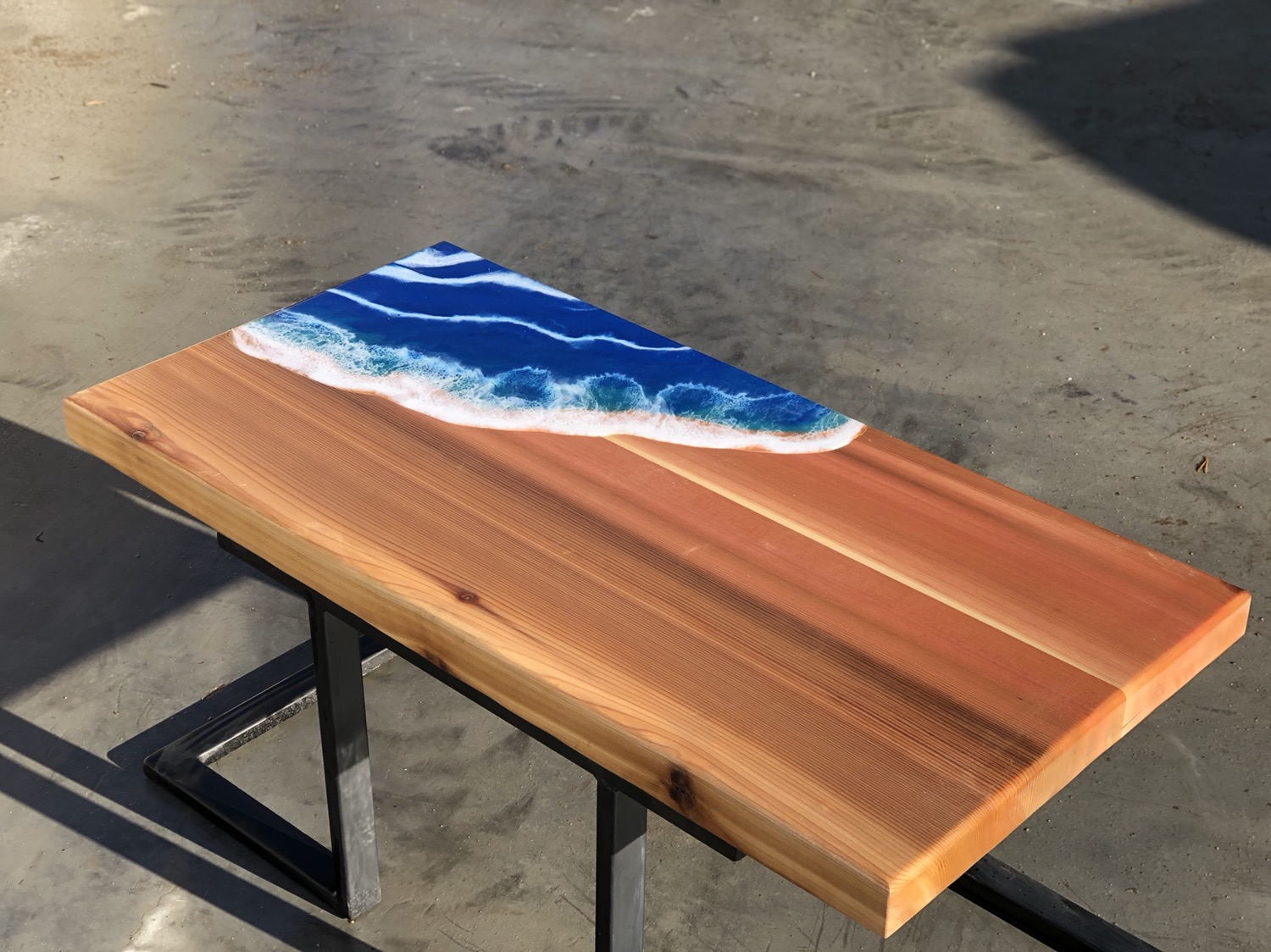 Thumbnail: Ocean wave cedar coffee table