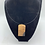 Thumbnail: Resin and Wood Pendant Hooped Necklace