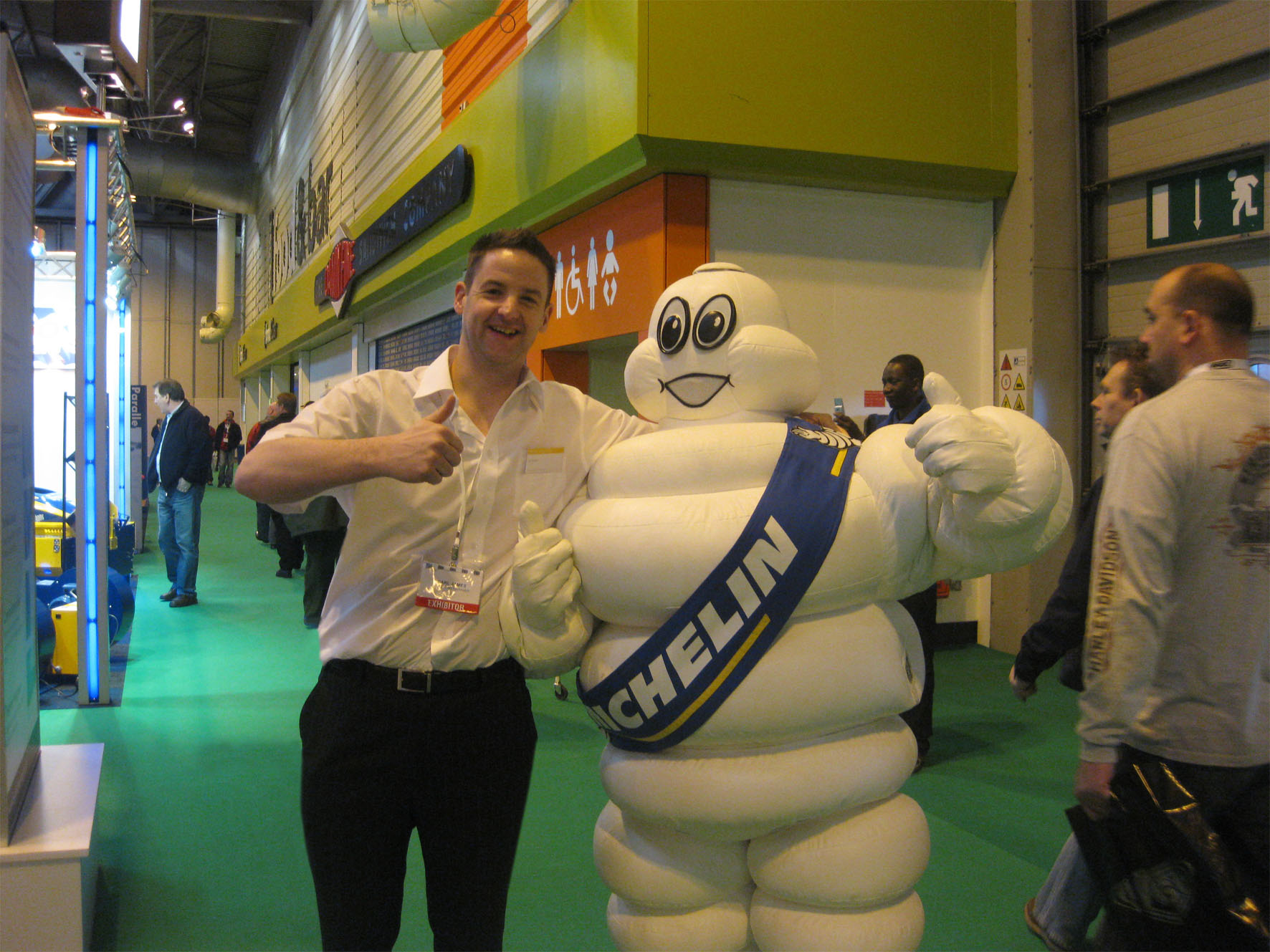 Spot the Michelin Man