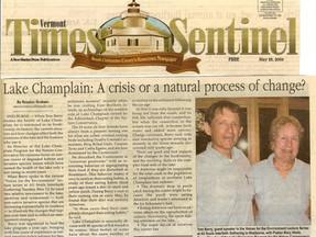 Lake Champlain: A Crisis or a Natural Process of Change - Vermont Times Senteniel