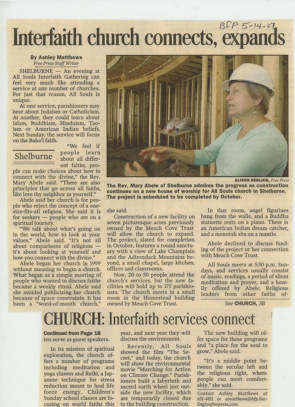 2007.05.14 Burlington Free Press 05_14_07.jpg
