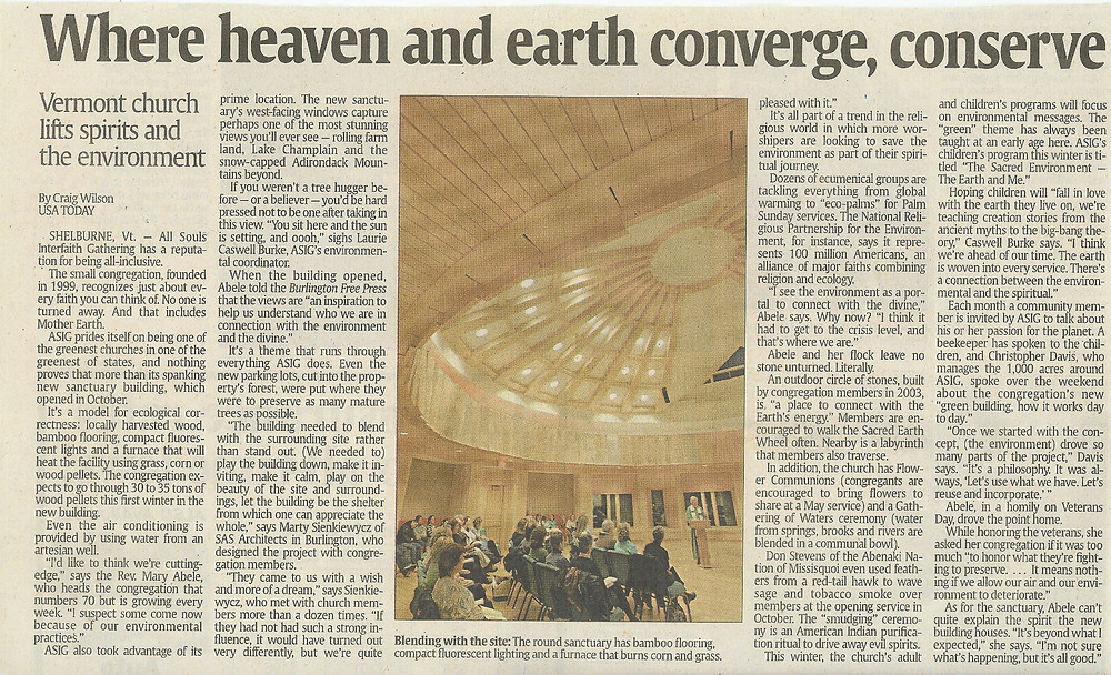 2008.01.07 Where heaven and Earth Converge, Conserve - USA Today_01_07_08 articl