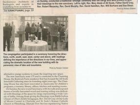 All Souls Interfaith Gathering Dedicates Sanctuary - Vermont Times Senteniel