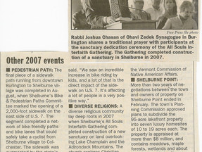 2007 Other Events: Diverse Religions - Burlington Free Press