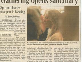 Gathering Opens Sanctuary - Burlington Free Press