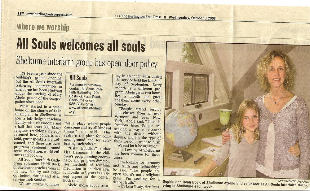 2008.10.08 All Souls Welcomes All Souls - Burlington Free Press.jpg