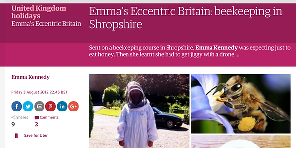 Guardian article about beekeeping