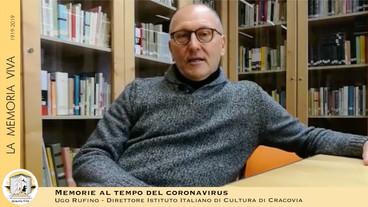 Memorie al tempo del coronavirus