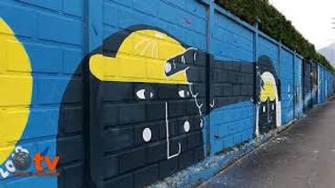 La sicurezza sul lavoro in un murales