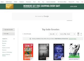 Barnes and Noble Top Indie Favorite!