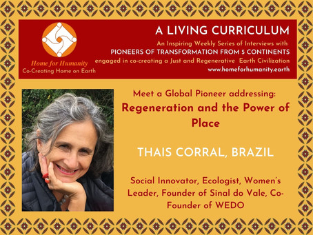 15 March 2021: Living Curriculum #8 with Thais Corral – Founder of Sinal do Vale