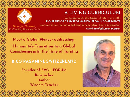 11 April 2021: Living Curriculum #12: Rico Paganini – Founder of EVOL FORUM