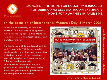8 March 2021: Launch of the Home for Humanity in Jerusalem, Palestine