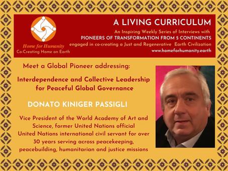 25 April: Living Curriculum #14: Donato Kiniger Passigli – Former United Nations civil servant