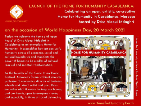 20 March 2021: Launch of the Home for Humanity in Casablanca hosted by Driss Alaoui Mdaghri