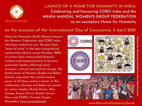 05 April 2021: Launch of the Home for Humanity in India – Celebrating and Honouring CORO India