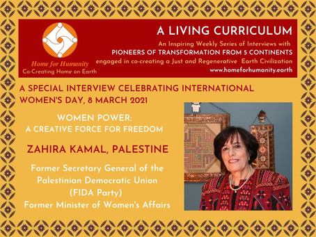 8 March 2021: Living Curriculum #7 with Zahira Kamal – Former Minister of Women's Affairs