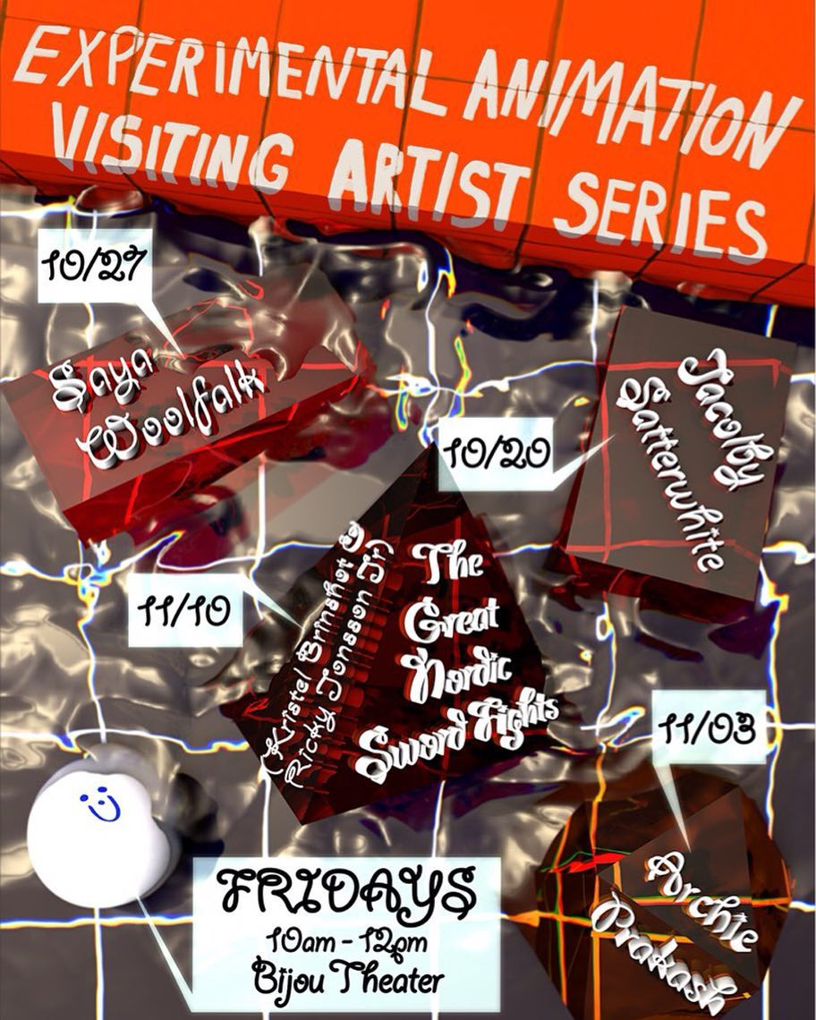 Poster Design for the CalArts Experimental Animation Visiting Artist Series