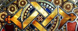 gerestaureerd kerkglas