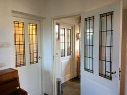 deuren met antiek glas