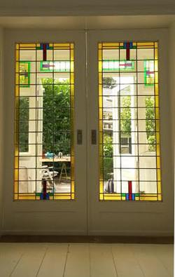 en-suite deuren jaren 30 glas in loo