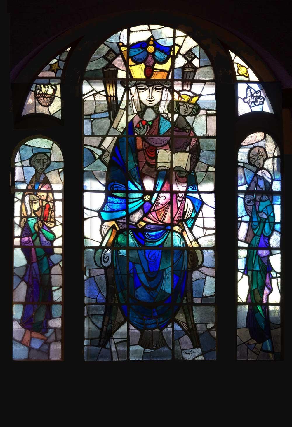 Glas in lood kerkraam Frans Cox Venlo