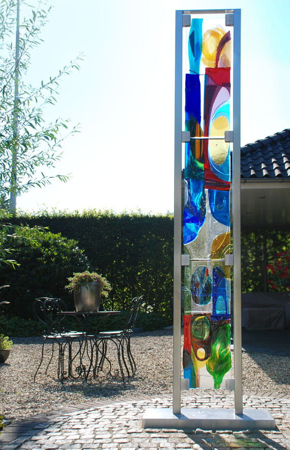 glasfusing tuinkunst glaskunst buitenkunst glas