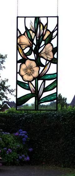 glas in lood bloemen