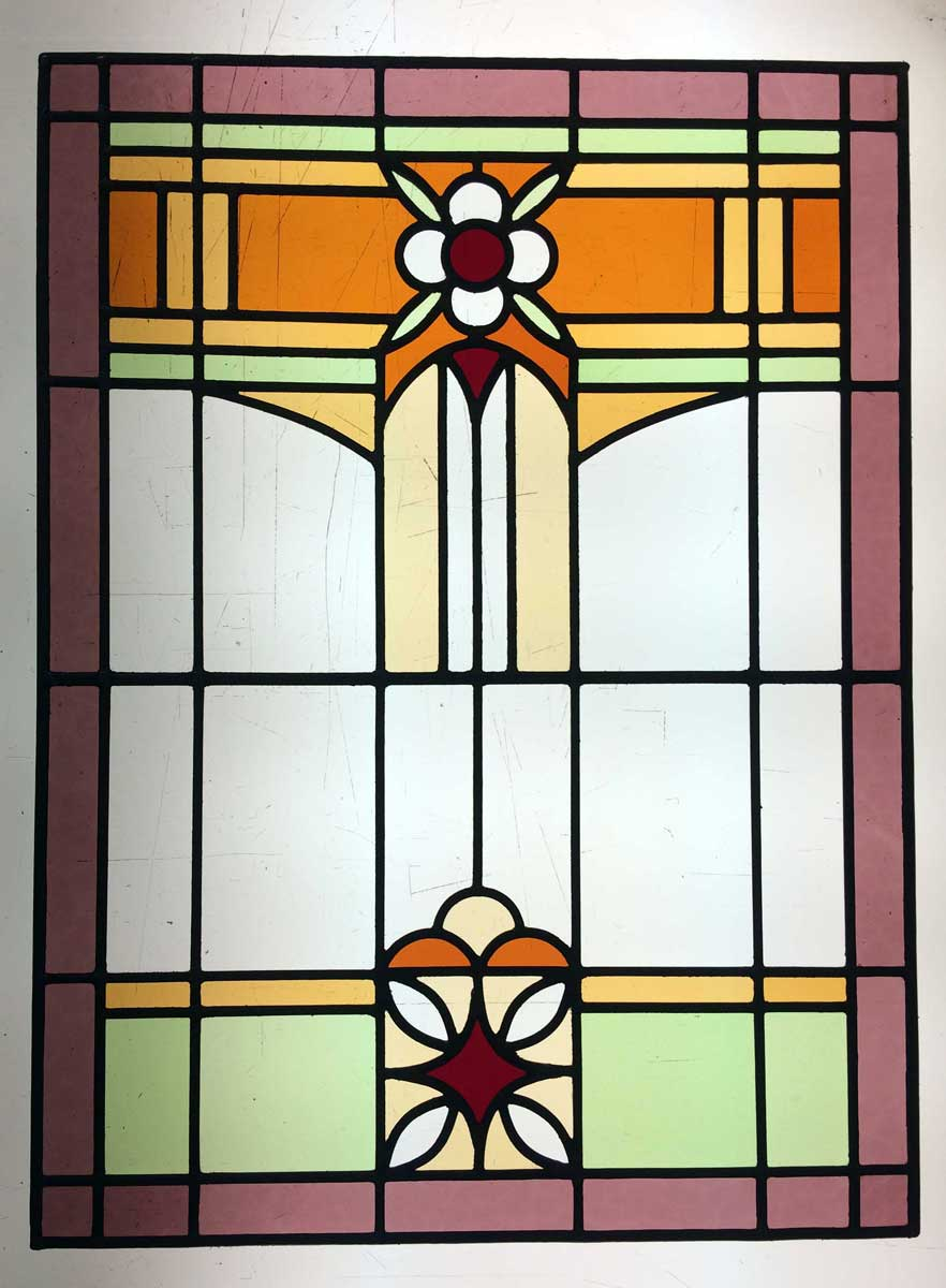 Art deco glas in lood