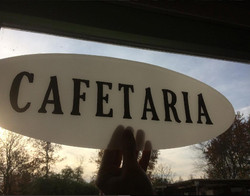 cafetaria logo glas in lood
