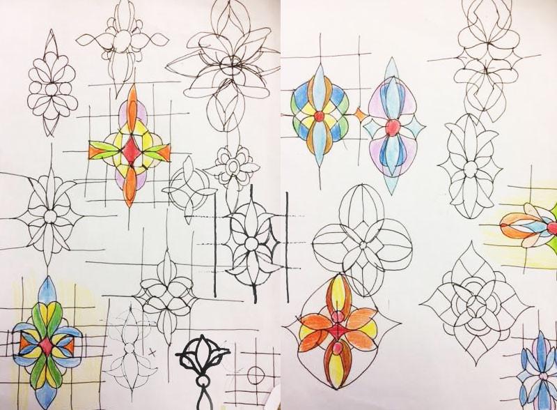glas in lood ontwerpen